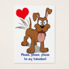Happy Dog Valentine Cards to Hand Out for Kids