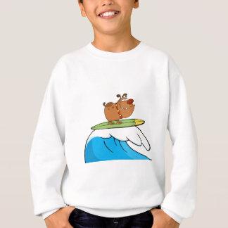 Happy Dog While Surfing Sweatshirt