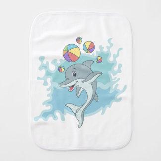 Happy dolphin burp cloth