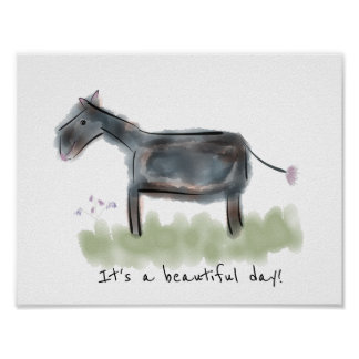 Happy Donkey | Beautiful Day Poster