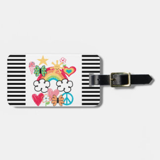 Happy Doodles Luggage Tag