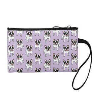 Happy Double Hooded Pied Frenchie Coin Purse