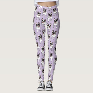 Happy Double Hooded Pied Frenchie Leggings
