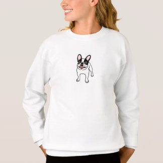 Happy Double Hooded Pied Frenchie Sweatshirt