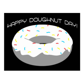 happy doughnut day postcard