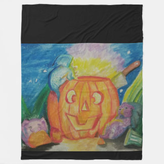 Happy Dragonween Fleece Blanket