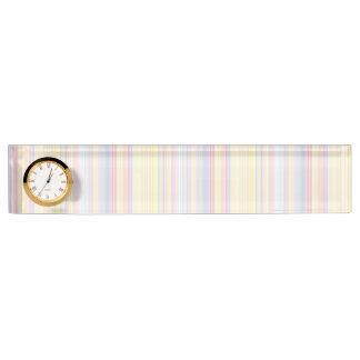 Happy Dream -Elegant Colorful stripe- Name Plate