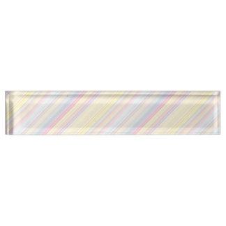 Happy Dream -Elegant Colorful stripe- Nameplate