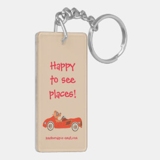Happy Driving by The Happy Juul Company Double-Sided Rectangular Acrylic Keychain
