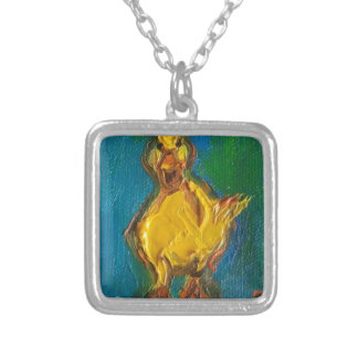 Happy Duck Silver Plated Necklace