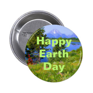 Happy Earth Day 2 Inch Round Button