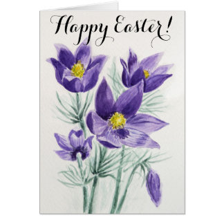 Happy Easgter watercolor card