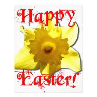 Happy Easter, 02.T Daffodils Letterhead