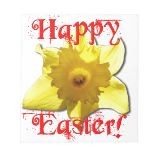 Happy Easter, 02.T Daffodils Notepad