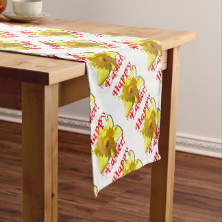 Happy Easter, 02.T Daffodils Short Table Runner