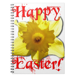 Happy Easter, 02.T Daffodils Spiral Notebooks