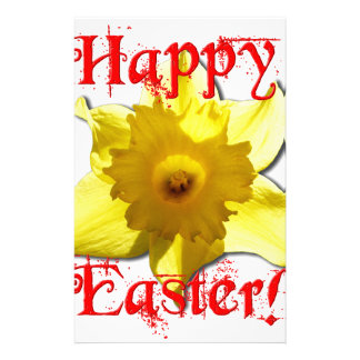 Happy Easter, 02.T Daffodils Stationery