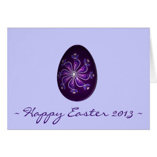 Happy Easter 2013 ~ Purple Painted Russian Egg Card
