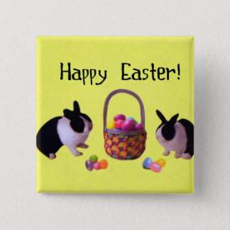Happy Easter! 2 Inch Square Button