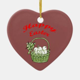 Happy Easter 4 Ceramic Ornament