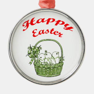 Happy Easter 4 Metal Ornament