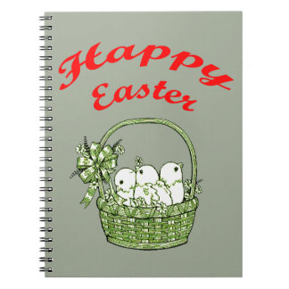 Happy Easter 4 Spiral Notebook