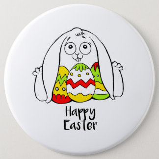 Happy Easter 6 Inch Round Button