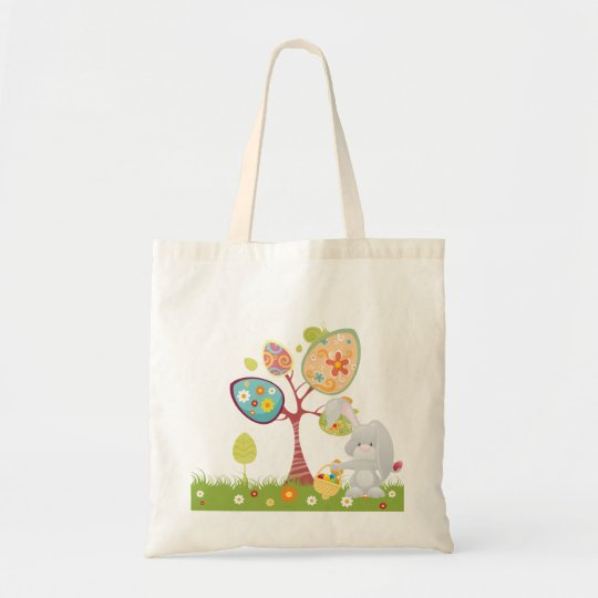 Happy Easter Abstract Art Tote Bag