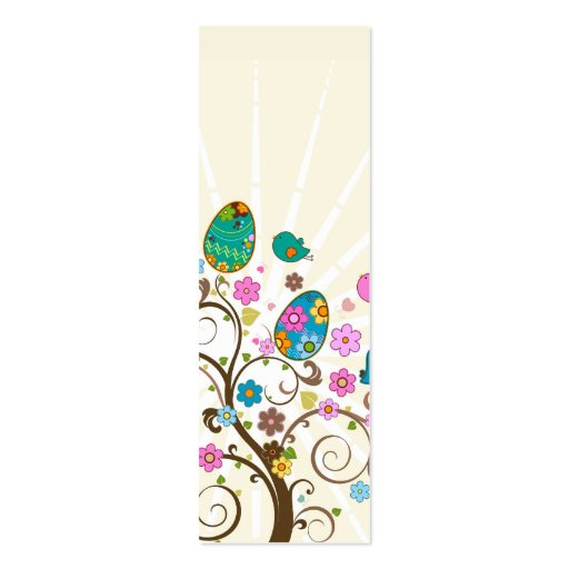 Happy Easter Abstract Bookmark Business Card Templates