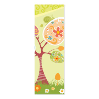 Happy Easter Abstract Bookmark Mini Business Card