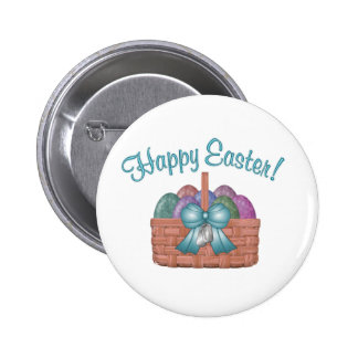 happy easter aqua 2 inch round button