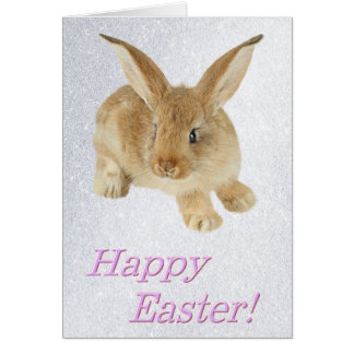 HAPPY EASTER BABY BUNNY GREETING CARD