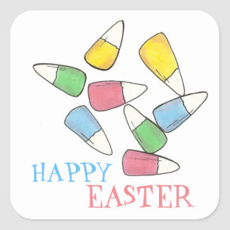 Happy Easter Basket Candy Corn Candycorn Stickers