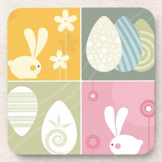 Happy Easter Beverage Coasters