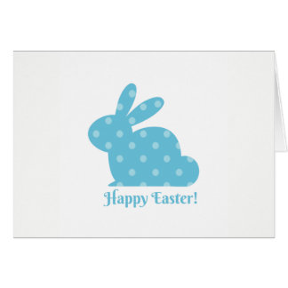 """Happy Easter!"" Blue Bunny Card"