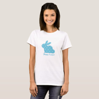"""Happy Easter!"" Blue Bunny T-Shirt"