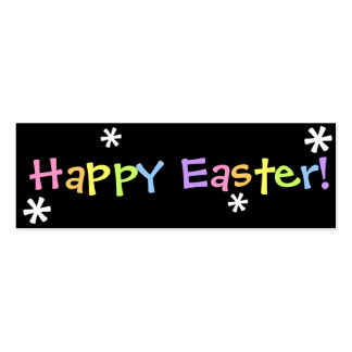 Happy Easter!  Bookmark Pack Of Skinny Business Cards