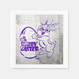 Happy Easter Brick Wall Napkin