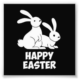 Happy Easter Bunnies Art Photo