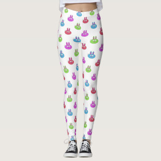Happy Easter Bunnies Choose backgroud color Leggings