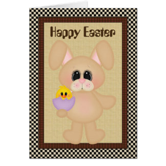 Happy Easter bunny add message card