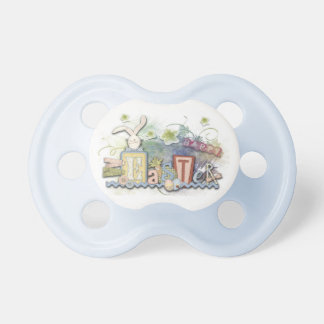 Happy Easter Bunny BAby Blue Boy's Pacifier