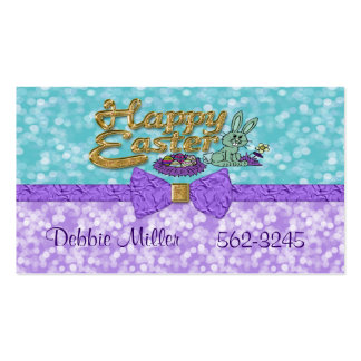 Happy Easter Bunny Business Card