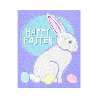 Happy Easter Bunny Canvas Print
