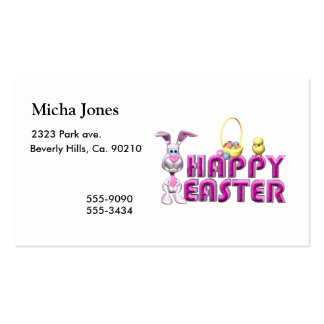 Happy Easter Bunny & Chick Business Card