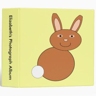 Happy Easter Bunny Custom Photo Album 3 Ring Binder