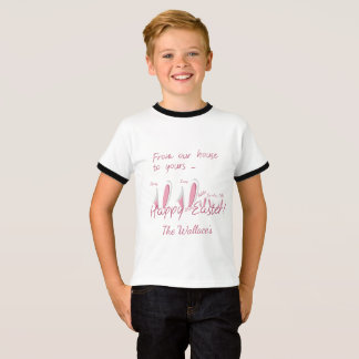 Happy Easter Bunny Ears Personalized T-Shirt