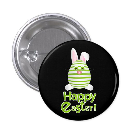 Happy Easter Bunny Egg 1 Inch Round Button