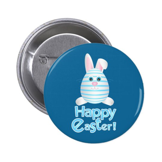 Happy Easter Bunny Egg 2 Inch Round Button