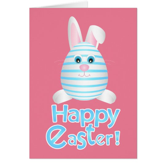 Happy Easter Bunny Egg Card